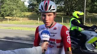 Rasmus Byriel efter første etape af PostNord Danmark Rundt 2019