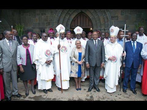Kenyatta, Odinga meet at the All Saints Cathedral Church