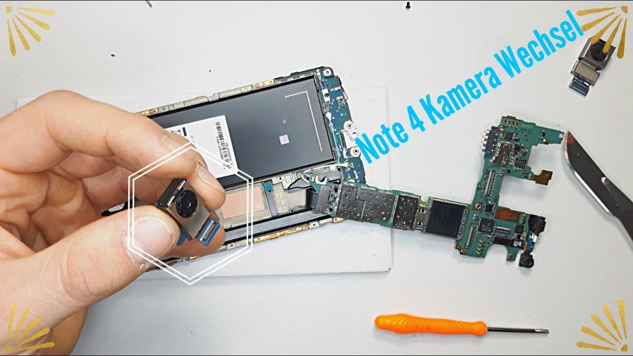 Galaxy Note 4 Kamera Display Rahmen Mainboard Wechsel Tausch ...