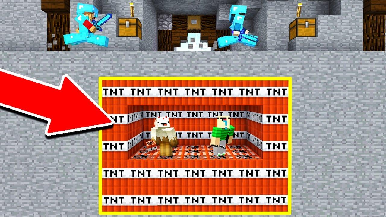 Underground Minecraft Tnt Troll Minecraft Trolling