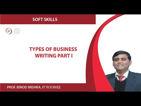 Types of Business Writing Part I