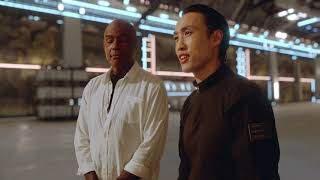 MICHAEL DORN AKA WORF and DEREK TING Movie Clip AGENT REVELATION, Inside the Spaceship