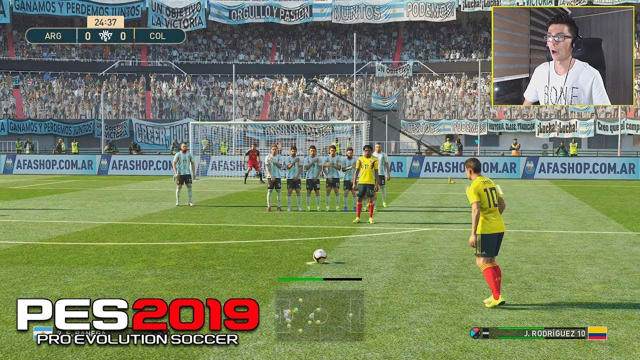 Pes 2019 Colombia Vs Argentina Ps4 Gameplay Youtube