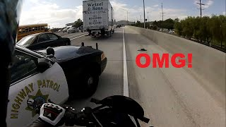 Close call with Highway Patrol