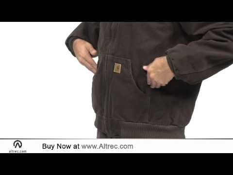 Carhartt Mens Sandstone Active Jacket Quilted Flannel Lined Youtube