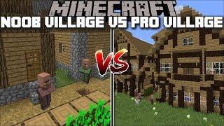 Minecraft NOOB VILLAGE VS PRO VILLAGE MOD / SAVE THE VILLAGE FROM A ZOMBIE ATTACK !! Minecraft