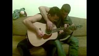 Two musicians - One guitar. Funny improvisation