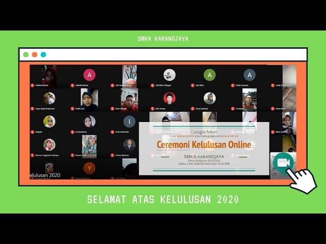 Ceremoni Pembagian Surat Keterangan Lulus Online SMKN Karangjaya 2020 - Selamat atas Kelulusan!