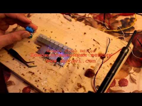 видео: Сборка простейшего усилителя, на двух транзисторах.