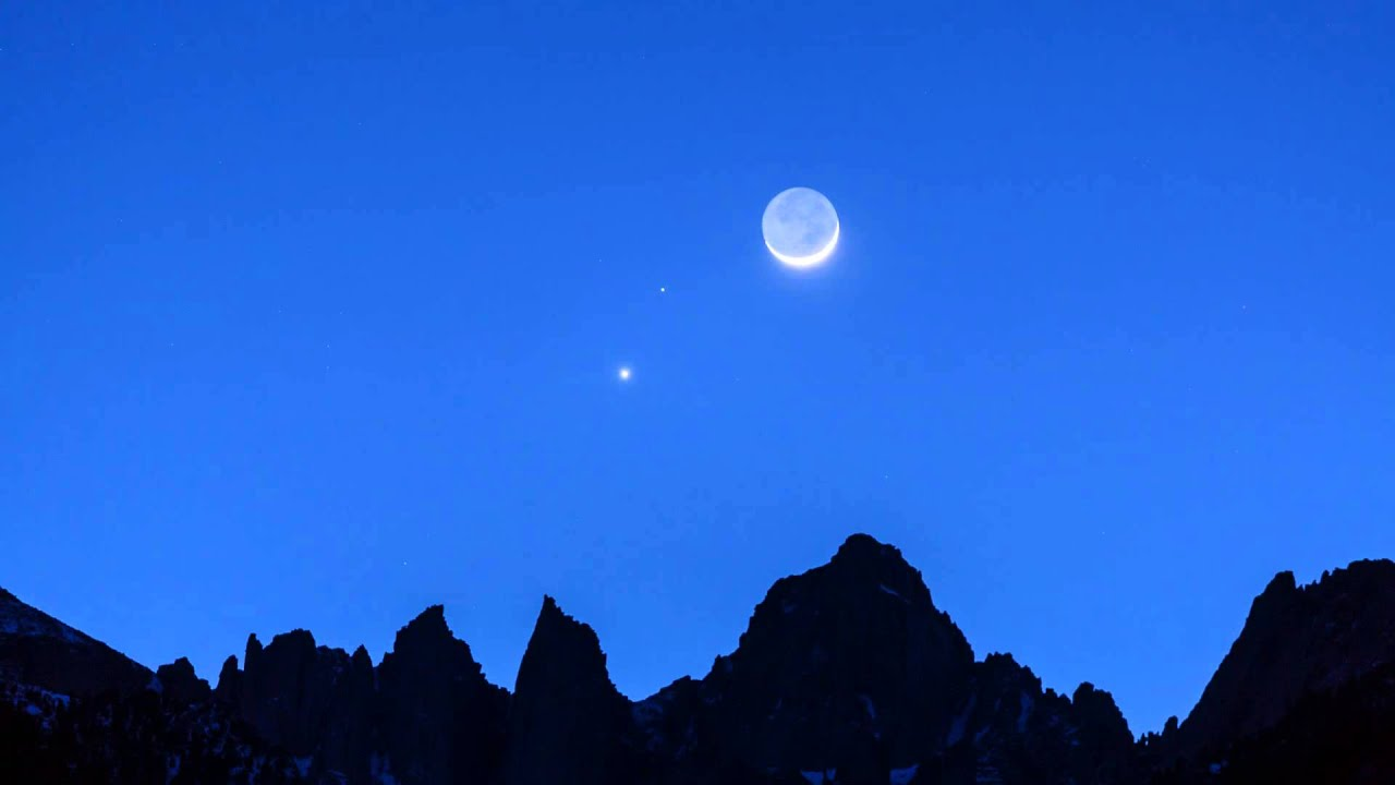 Moon, Mars, Venus Conjunction Over Mount Whitney