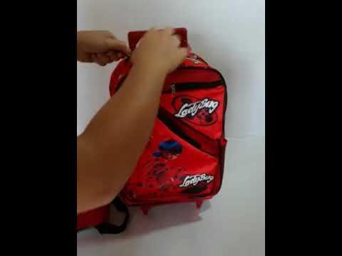 Kit Mochila Ladybug Infantil Feminina Lancheira Termica Mira - YouTube 60c72bd2f224c