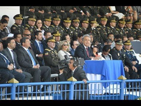 Moreno asiste a ceremonia de ascensos policiales