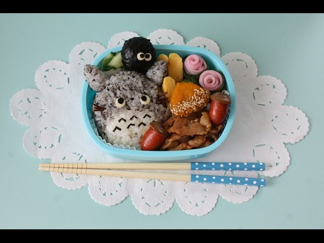 Totoro Bento lunch box トトロ弁当 まっくろくろすけもいるよ!