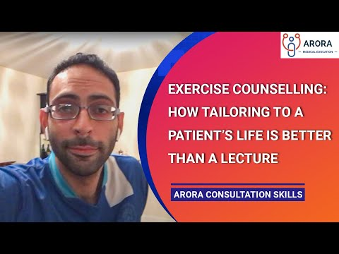 Exercise Counselling: How tailoring to a patient's life is better than a lecture - 180 seconds