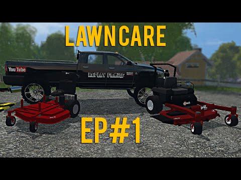 Farming Simulator 15 Lawn Care Ep #1