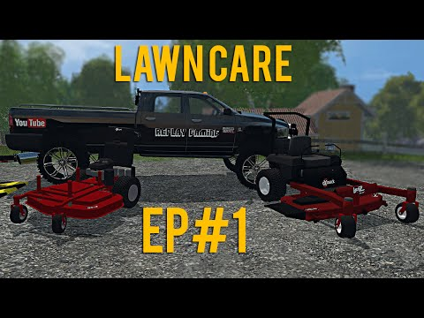 Farming Simulator 15 Lawn Care Ep #1
