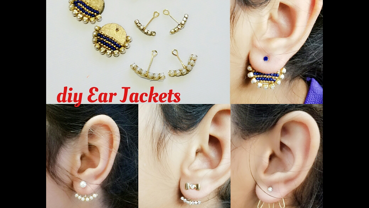 How To Make Back Stud Earrings Double Sided Ear Studs Cuff
