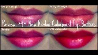 Review: Revlon Colorburst Lip Butters Spring 2013 (swatches + Dupes!) || Annie's Beauty Counter