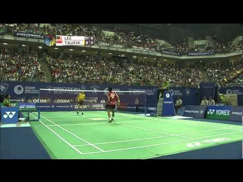 F - MS - Lee Chong Wei vs Taufik Hidayat - 2011 Proton Malaysia Open