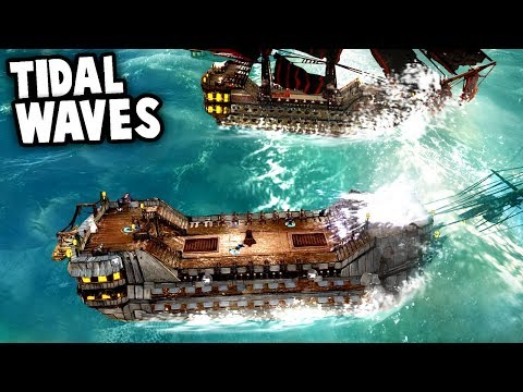 The BEST PIRATE SHIP Build vs Tidal Waves & Rogue Ships (Abandon Ship Gameplay Ep 2)