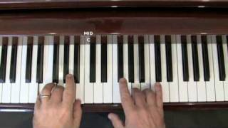 We Three Kings Of Orient Are - Easy piano lesson (Part 1)