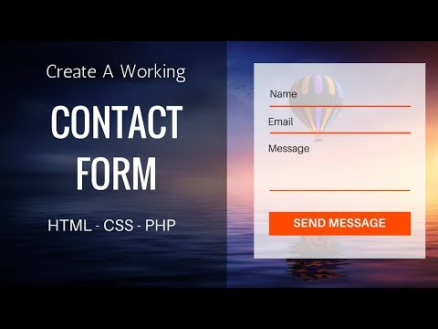 Create Working Contact Form Using HTML, CSS, PHP | Contact Form Design