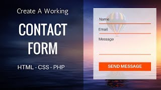 Create Working Contact Form Using HTML, CSS, PHP | Contact Form Design Mp3