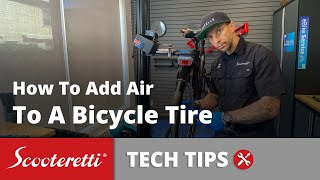 How To Add Air To Bicycle Tires