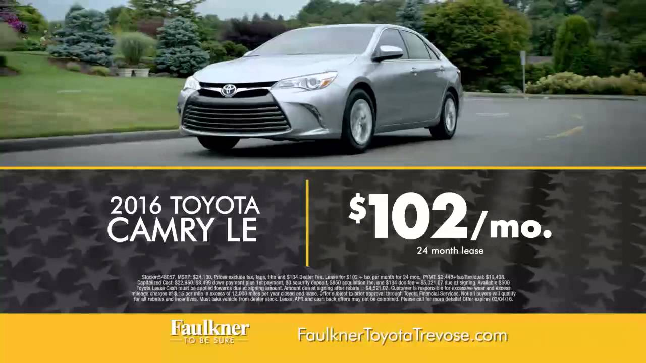 Faulkner Toyota Trevose >> Faulkner Toyota Trevose Presidents Day Event Extended Youtube