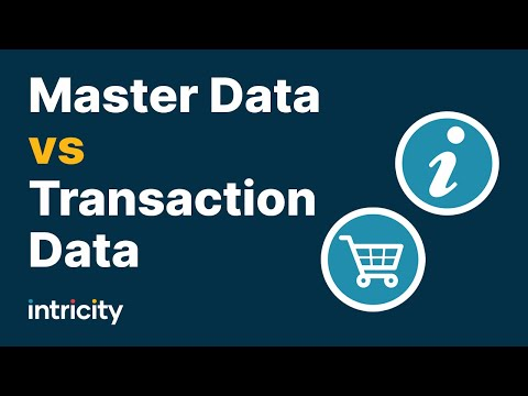 Master Data VS Transaction Data