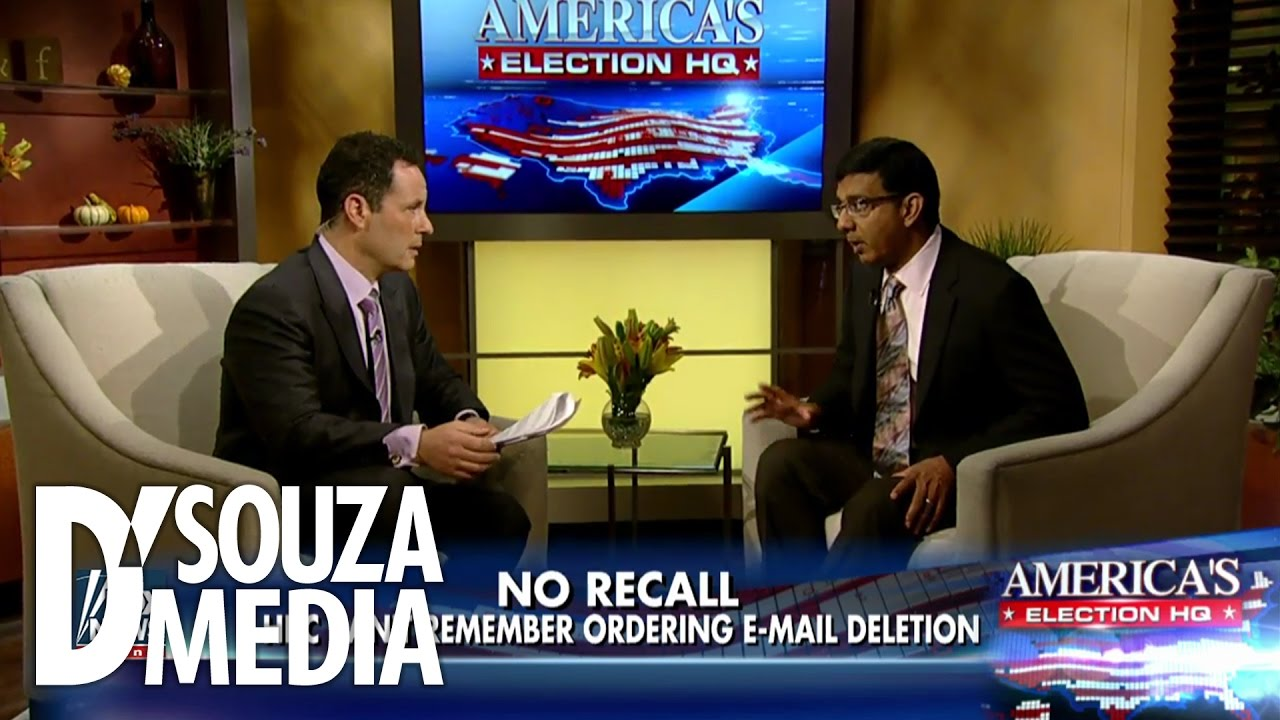 "Download Hillary ""Doesn't Recall"" Ordering Destruction Of Emails? D'Souza Responds"