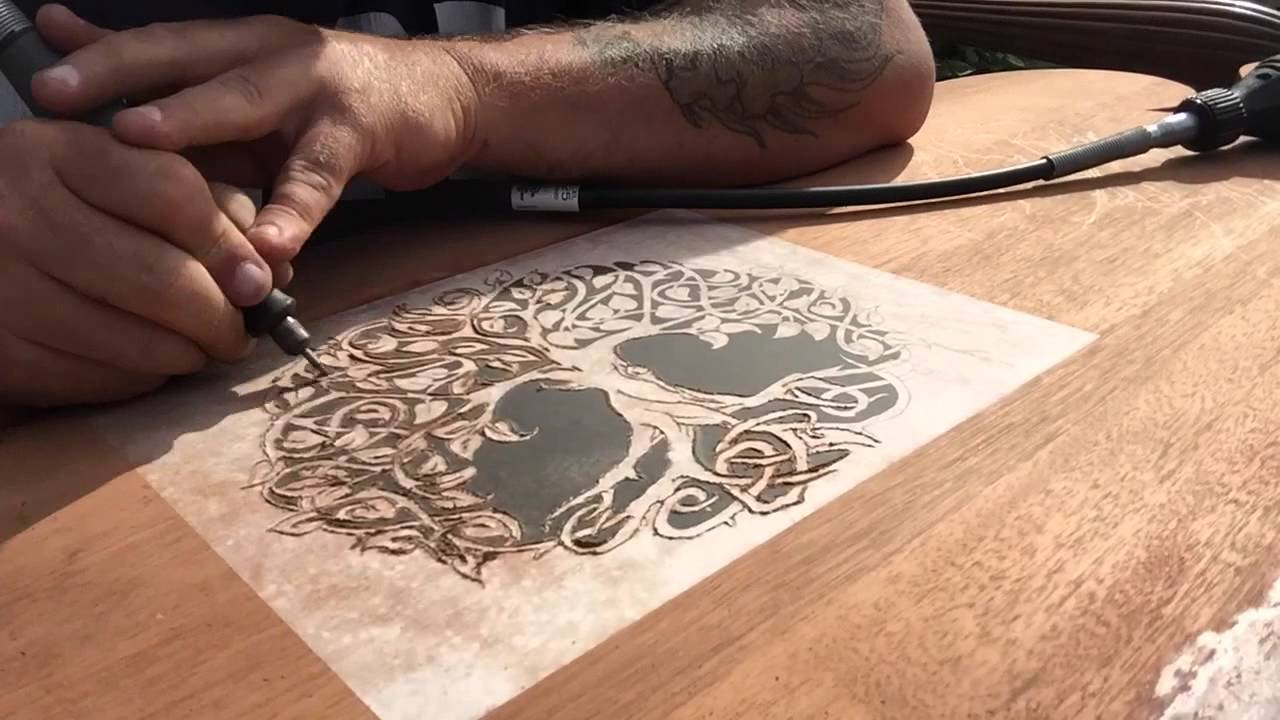 DREMEL WOOD CARVING PROJECT HEADBOARD PART 1   YouTube