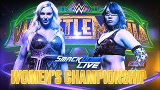 WWE Wrestlemania 34 Charlotte vs Asuka (SD Women's Championship)