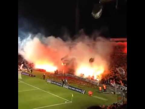 Eintracht Frankfurt Pyroshow in Bordeaux 28.11.13 (Bordeaux - Frankfurt, 12.000 Frankfurter)