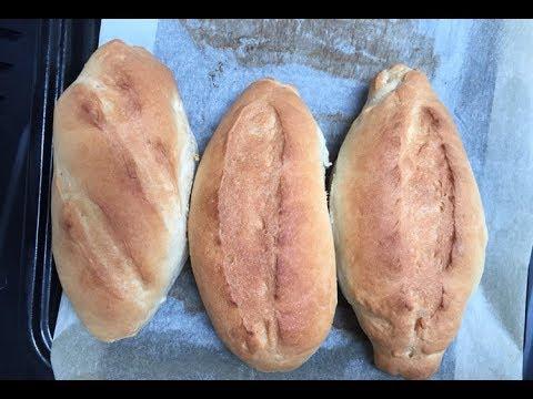Cách làm bánh mì đặc ruột đơn giản.   Vietnamese baguette at home.