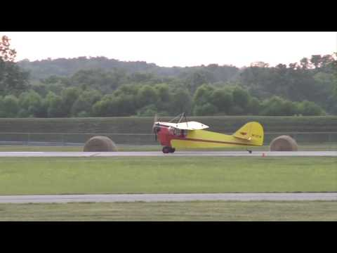 Aeronca C-2 flying over Middletown, Ohio