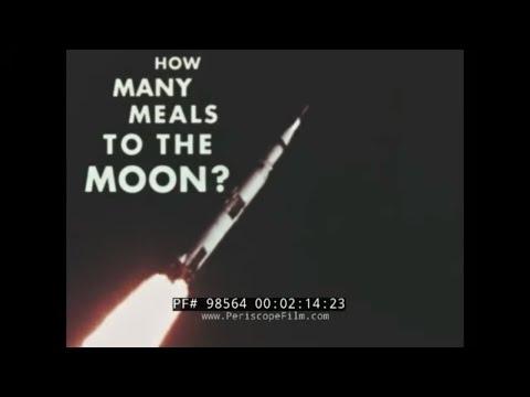 NASA APOLLO PROGRAM  ASTRONAUT FOOD PROCESSING & MENU DEVELOPMENT FILM  SPACE FOOD 98564