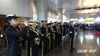 2018年11月10日  砕氷艦「しらせ」出港式  村川海上幕僚長への栄誉礼 海上自衛隊