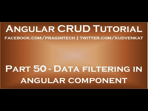 Data filtering in angular component