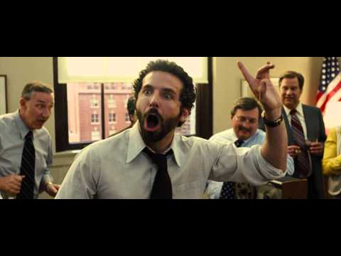 American Hustle - Bradley Cooper Showing Some Acting!