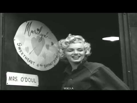 Footage Of Marilyn Monroe and interview - The Front Row In Korea 1954