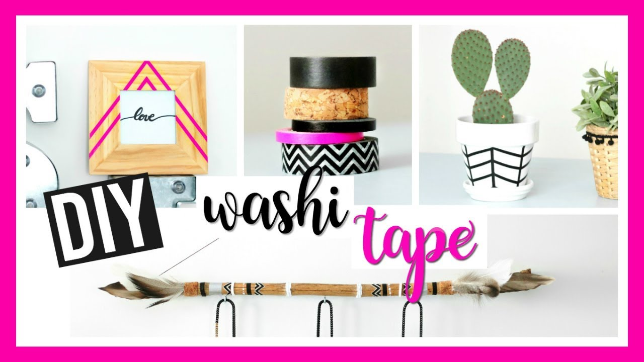diy facile washi tape masking tape deco chambre fran ais youtube. Black Bedroom Furniture Sets. Home Design Ideas