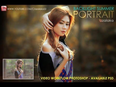 Photoshop Tutorial : Backlight Portrait Of Shelvi