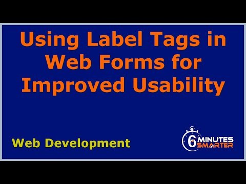 Using Label Tags In Web Forms