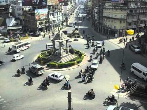 Traffic in Kathmandu - view from World Trade Center
