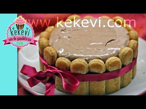 Fındık Kremalı Kahveli Kedidili Pasta - Kekevi Pasta Tarifleri