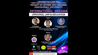 INTERNATIONAL WEBINAR - LANGUAGE, LAW & EDUCATION