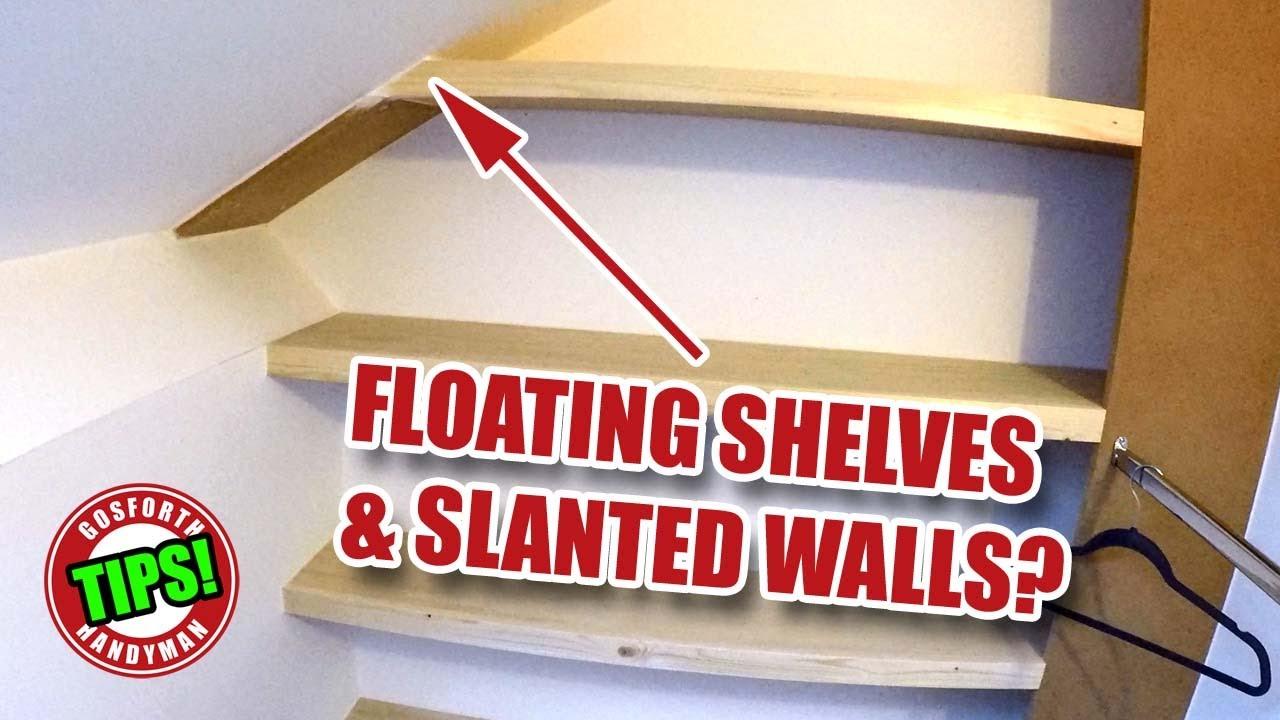 floating shelves on an angled wall 2000 subs handyman tips ghtl 5 rh youtube com angled wall shelf brackets angled wall shelf