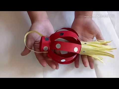 How to make paper kandil at home .. DIY easy kandil  making