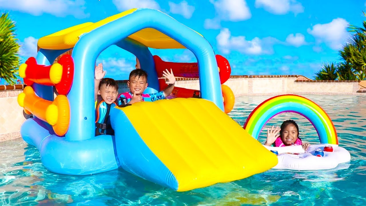 Download Wendy Pretend Play with a Giant Inflatable Playhouse Swimming Pool Toy